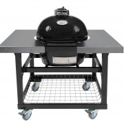 PRIMO OVAL JR - STEEL CART WITH STAINLESS SIDE SHELVES