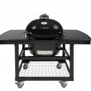 PRIMO OVAL LG - STEEL CART WITH HDPE SIDE SHELVES