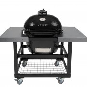 PRIMO OVAL LG - STEEL CART WITH STAINLESS SIDE SHELVES